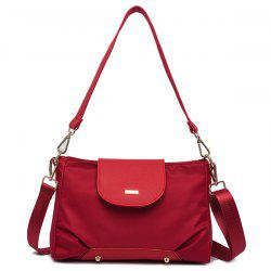 PU Leather Insert Shoulder Bag - RED