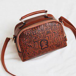Bone Script Embossed Cross Body Handbag