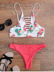 Floral Strappy Padded Bikini - FLORAL