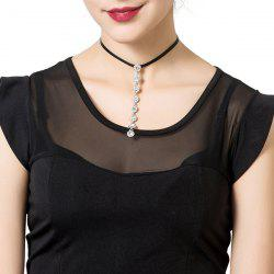 Shiny Rhinestone Pendant Choker Necklace