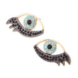 Rhinestone Alloy Devil Eye Earrings -