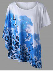Plus Size Floral with Leopard T-Shirt