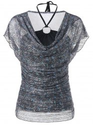 Voile Sheer Blouse and Halter Bandeau Tank Top