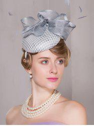 Floral Cambric Feather 40s Pillbox Hoop Hat