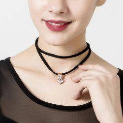 Fake Diamond Layered Choker Necklace