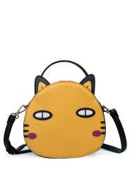 Cat Shaped Zip Around Crossbody Bag