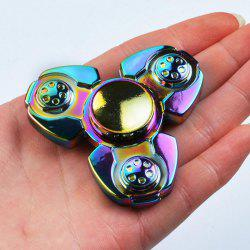 Colorful Stress Relief Toy Tri-Spinner Finger Gyro - Coloré