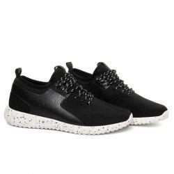 Breathable Mesh Tie Up Casual Shoes