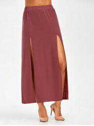High Waist Slit Maxi Skirt
