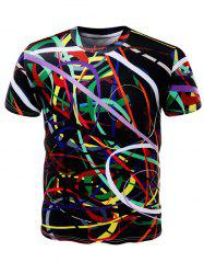 All Over Print Color Block T-Shirt