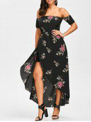 Off Shoulder Floral Maxi Swing Dress