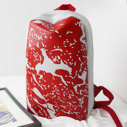 Splash Print Faux Leather Backpack
