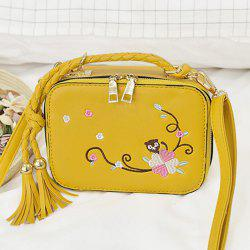 Embroidery Tassel Crossbody Handbag
