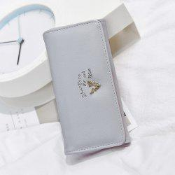 Faux Leather Deer Horn Clutch Wallet