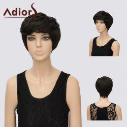 Adiors Short Layered Side Bang Straight Pixie Synthetic Hair