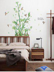 Vinyl Bamboo Bird Quotes Wall Sticker