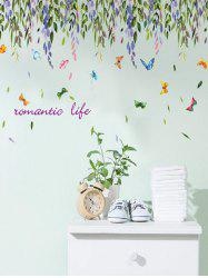 Removable Vinyl Willow Butterfly Wall Sticker - COLORFUL