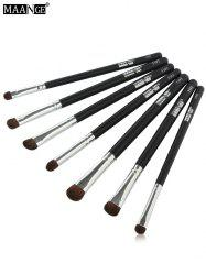 MAANGE 7 Pcs Horse Hair Eye Makeup Brushes Set
