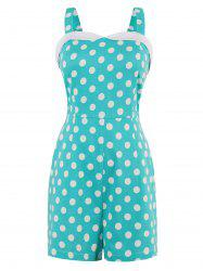 Sweetheart Neck Polka Dot Romper