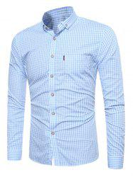 Long Sleeve Button Down Gingham Shirt