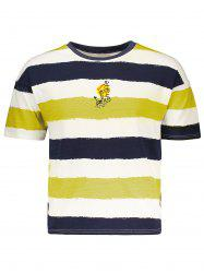 Fawn Embroidered Stripe T-Shirt