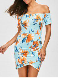 Off The Shoulder Floral Print Dress