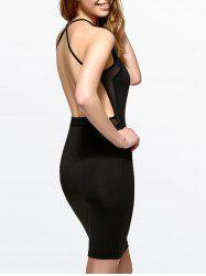 Mesh Panel Open Back Bodycon Dress