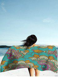 Rectangle Mandala Print Milk Silk Fabric Beach Throw