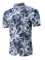 Turndown Collar Floral Hawaiian Shirt