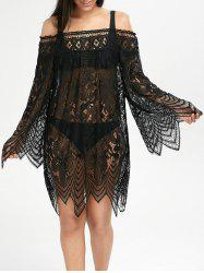 Lace See Thru Cover Up Dress for Beach