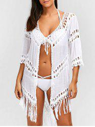 Crochet Fringe Beach Cover-Up