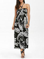 Maxi Halter Neck Printed Summer Beach Dress