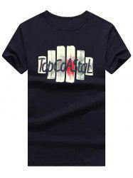 Letter Print Slim Fit T-Shirt -