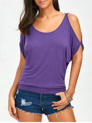 Cut Out Cold Shoulder Tee