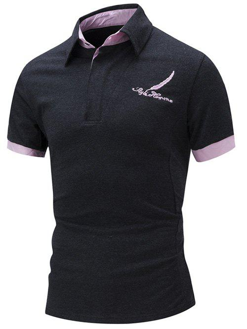 Buy Feather Embroidered Color Block T Shirt