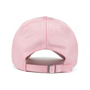 Bespangling Rose Embroidered Faux Pearl Circles Baseball Hat - PINK