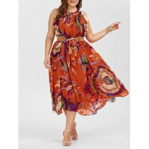 Plus Size Floral Maxi Summer Dress - Jacinth - 5xl