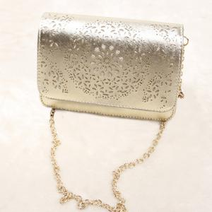 Chain Hollow Out Crossbody Bag -