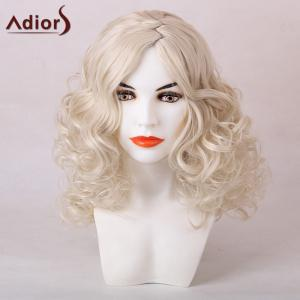 Adiors Medium Zigzag Side Parting Shaggy Curly Synthetic Wig
