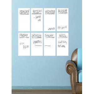 Weekly Schedule White Board 8PCS A4 Wall Stickers with Pen