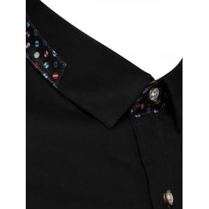 Printed Insert Pocket Shirt - BLACK 5XL