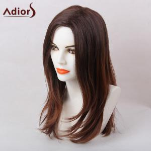 Adiors Straight Long Natural Side Part Synthetic Hair - BURGUNDY