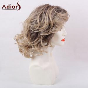 Adiors Short Side Bang Layered Shaggy Wavy Colormix Synthetic Wig -