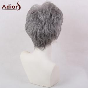 Adiors Short Oblique Bang Layered Shaggy Natural Straight Synthetic Wig -