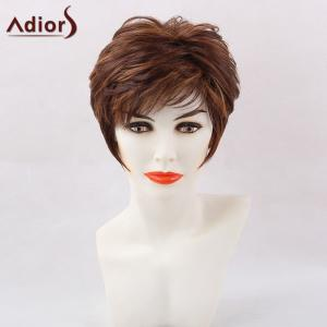 Adiors Short Side Bang Hightlight Straight Pixie Synthetic Hair