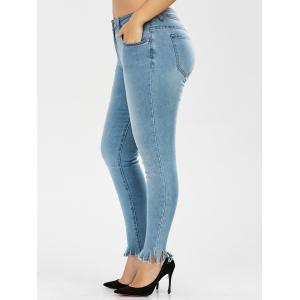 Plus Size Light Wash Skinny Jeans - Denim Blue - 5xl