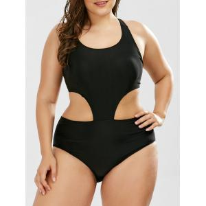 Padded Plus Size One Piece Monokini Swimsuit