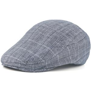 Outdoor Plaid Retro Newsboy Hat