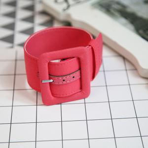 Faux Suede Belt Shaped Ankle Cuff Anklet - Watermelon Red