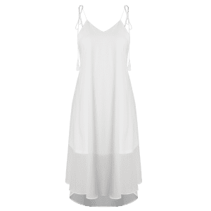 Backless High Low Chiffon Slip Beach Dress -
